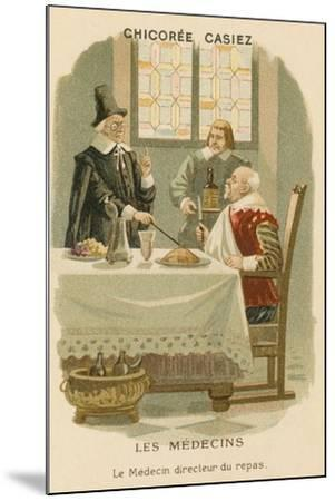 A Doctor Telling a Man What He Should Eat--Mounted Giclee Print