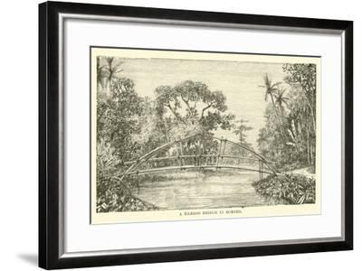 A Bamboo Bridge in Borneo--Framed Giclee Print