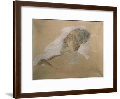 Giuseppe Verdi on His Deathbed-Adolfo Hohenstein-Framed Giclee Print