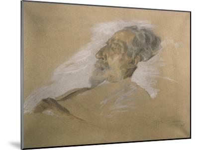 Giuseppe Verdi on His Deathbed-Adolfo Hohenstein-Mounted Giclee Print