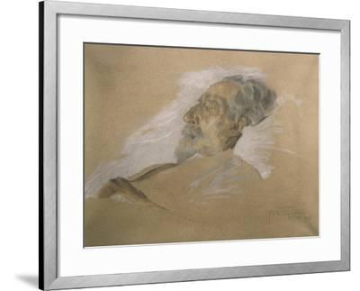Giuseppe Verdi on His Deathbed-Adolfo Hohenstein-Framed Giclee Print
