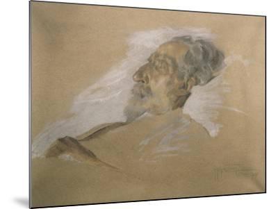 Giuseppe Verdi on His Deathbed-Adolfo Hohenstein-Mounted Giclee Print