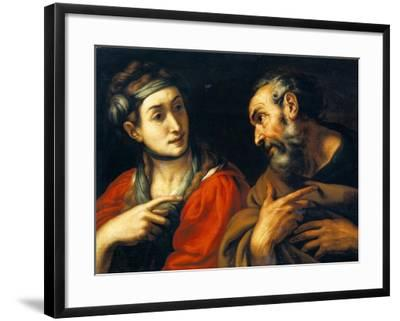 The Denial of Saint Peter-Daniele Crespi-Framed Giclee Print