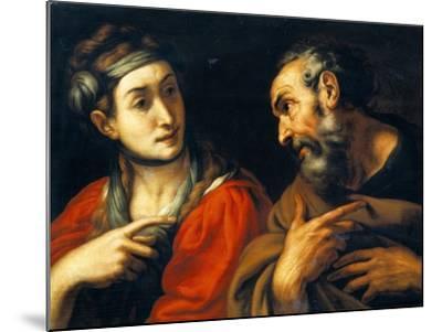The Denial of Saint Peter-Daniele Crespi-Mounted Giclee Print