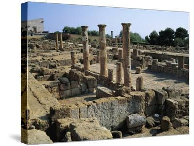 Hellenistic-Roman Quarter of Valley of Temples--Stretched Canvas Print