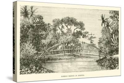 Bamboo Bridge in Borneo--Stretched Canvas Print