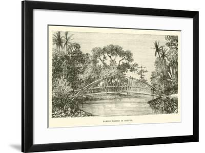 Bamboo Bridge in Borneo--Framed Giclee Print