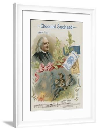 Franz Liszt, Austrian Composer and Musician--Framed Giclee Print