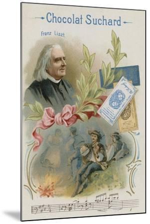 Franz Liszt, Austrian Composer and Musician--Mounted Giclee Print