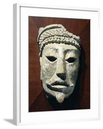 Stone Head Originating from Comalcalco--Framed Giclee Print