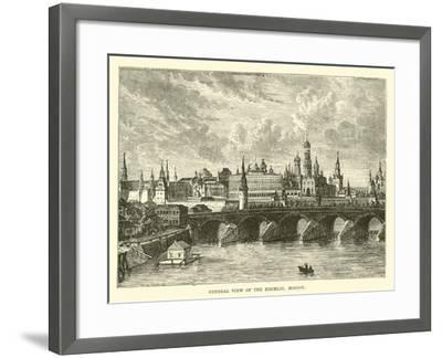 General View of the Kremlin, Moscow--Framed Giclee Print