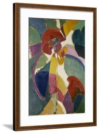 Woman with a Parasol, 1913-Robert Delaunay-Framed Giclee Print