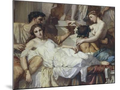 Romans of Decadence, 1847-Thomas Couture-Mounted Giclee Print