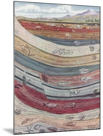 Strata of the Earth's Crust--Mounted Giclee Print