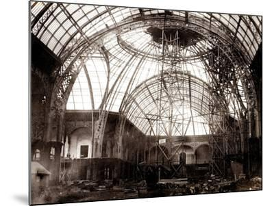 Grand Palais Building Works, 1897-1900--Mounted Photographic Print