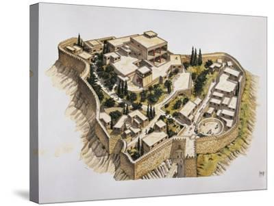 Reconstruction of Ancient Mycenae--Stretched Canvas Print