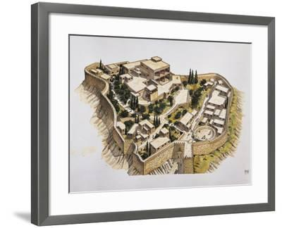 Reconstruction of Ancient Mycenae--Framed Giclee Print