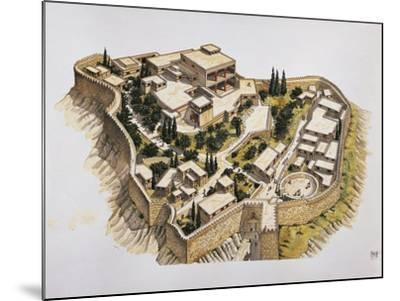 Reconstruction of Ancient Mycenae--Mounted Giclee Print