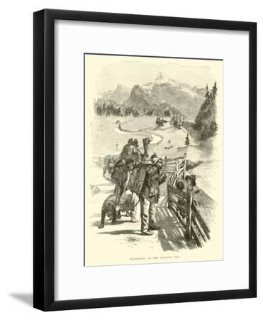 Wanderers on the Brenner Pass--Framed Giclee Print