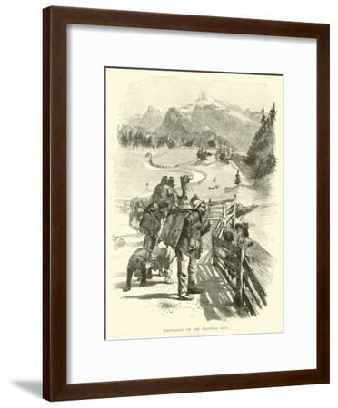 Wanderers on the Brenner Pass--Framed Giclee Print