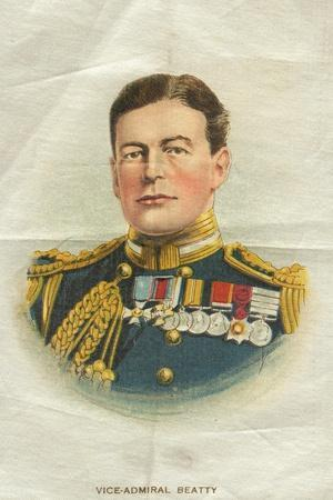 Vice-Admiral Beatty, Cigarette Flag--Stretched Canvas Print