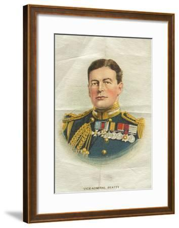 Vice-Admiral Beatty, Cigarette Flag--Framed Giclee Print