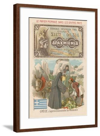 Procuring Supplies for a Monastery, Greece--Framed Giclee Print