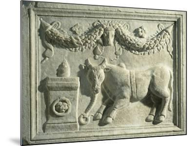 Altar with Relief Depicting Sacrifice of Bull--Mounted Giclee Print