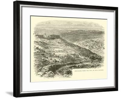 Jerusalem from the Hill of Evil Counsel--Framed Giclee Print