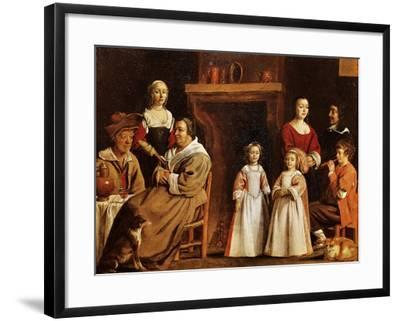 Portrait in Interior-Antoine Le Nain-Framed Giclee Print