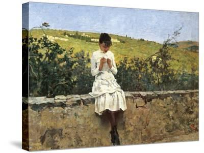 In Settignano Hills-Telemaco Signorini-Stretched Canvas Print