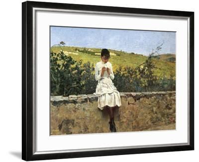 In Settignano Hills-Telemaco Signorini-Framed Giclee Print