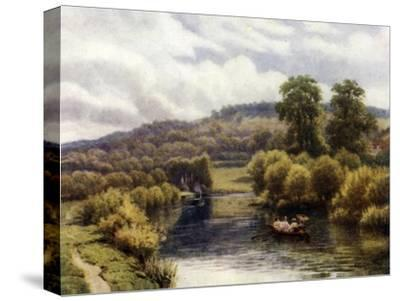 Streatley Reach-Alfred Robert Quinton-Stretched Canvas Print