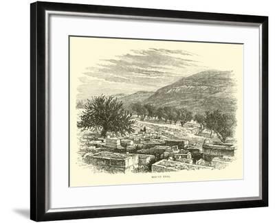 Mount Ebal--Framed Giclee Print