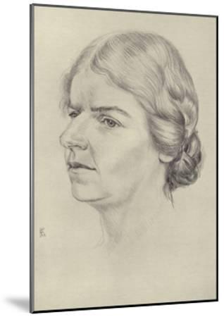 Naomi Mitchison, Scottish Novelist and Poet--Mounted Giclee Print