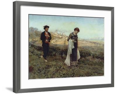 Courtship-Francesco Paolo Michetti-Framed Giclee Print