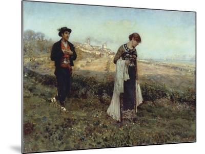 Courtship-Francesco Paolo Michetti-Mounted Giclee Print