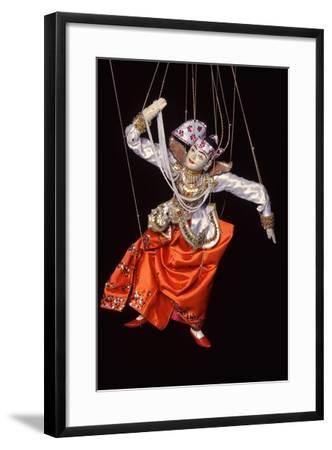 Burmese String Puppet--Framed Photographic Print
