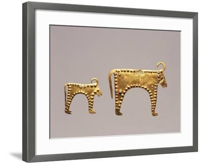 Animal Figures from Excavations at Varna, Tomb 36--Framed Giclee Print
