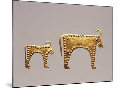 Animal Figures from Excavations at Varna, Tomb 36--Mounted Giclee Print