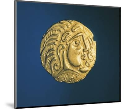 Gold Celtic Stater of Parisii or Quarisii--Mounted Giclee Print