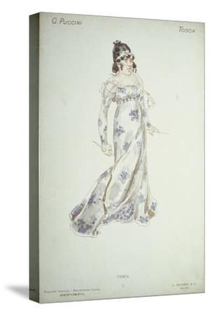 Costume Design in 'Tosca'-Adolfo Hohenstein-Stretched Canvas Print