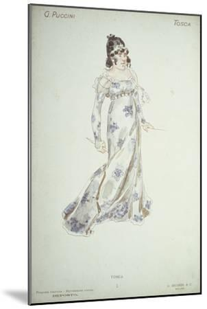 Costume Design in 'Tosca'-Adolfo Hohenstein-Mounted Giclee Print