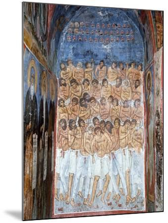 The Forty Martyrs of Sebaste--Mounted Giclee Print