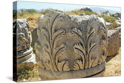 Decorated Capital, Xanthos, Turkey--Stretched Canvas Print