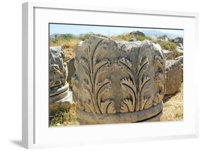 Decorated Capital, Xanthos, Turkey--Framed Photographic Print