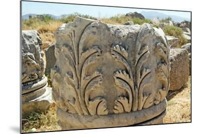 Decorated Capital, Xanthos, Turkey--Mounted Photographic Print
