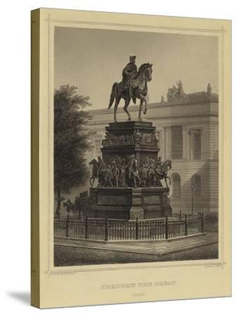 Frederick the Great, Berlin--Stretched Canvas Print