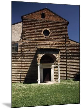 Facade of Our Lady of Consolation Church--Mounted Giclee Print