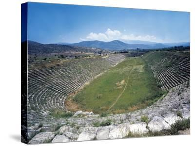 Turkey, Aegean Region, Aphrodisias, Stadium--Stretched Canvas Print